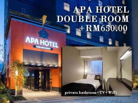 APA Hotel Double Room +RM650/pax