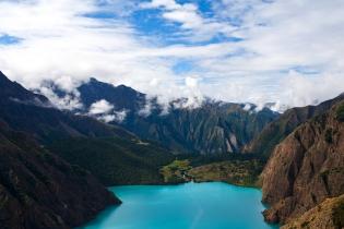 Phoksundo Lake in Dolpo Nepal. Phoksundo Lake is an alpine fresh water oligotrophic lake in Shey Phoksundo National Park located in the Dolpa District.